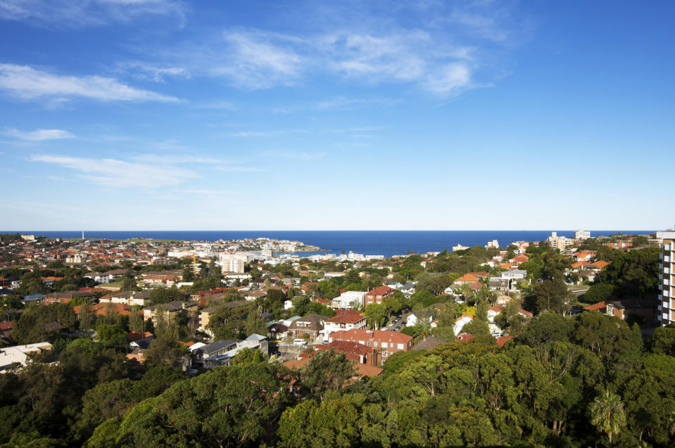 The view of Bondi from Bellevue Hill, Australia's priciest