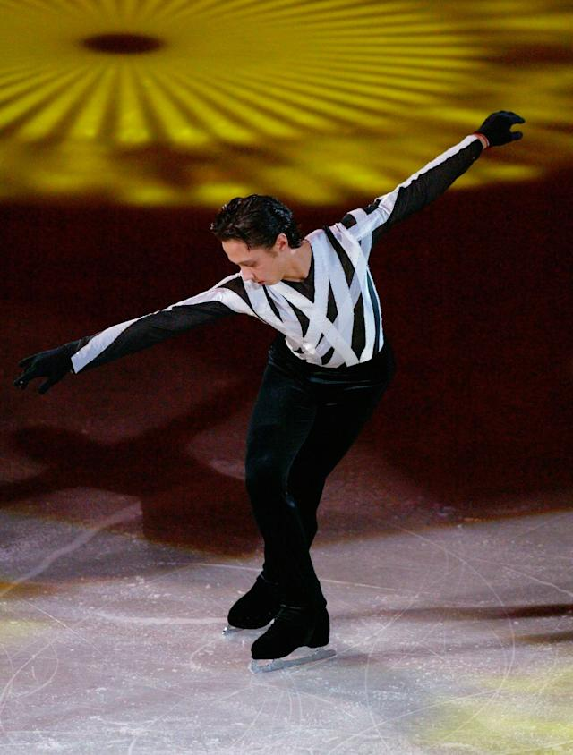 Performing at theExhibition Gala at the 2004 World Figure Skating Championships in Dortmund, Germany, on March 28, 2004.