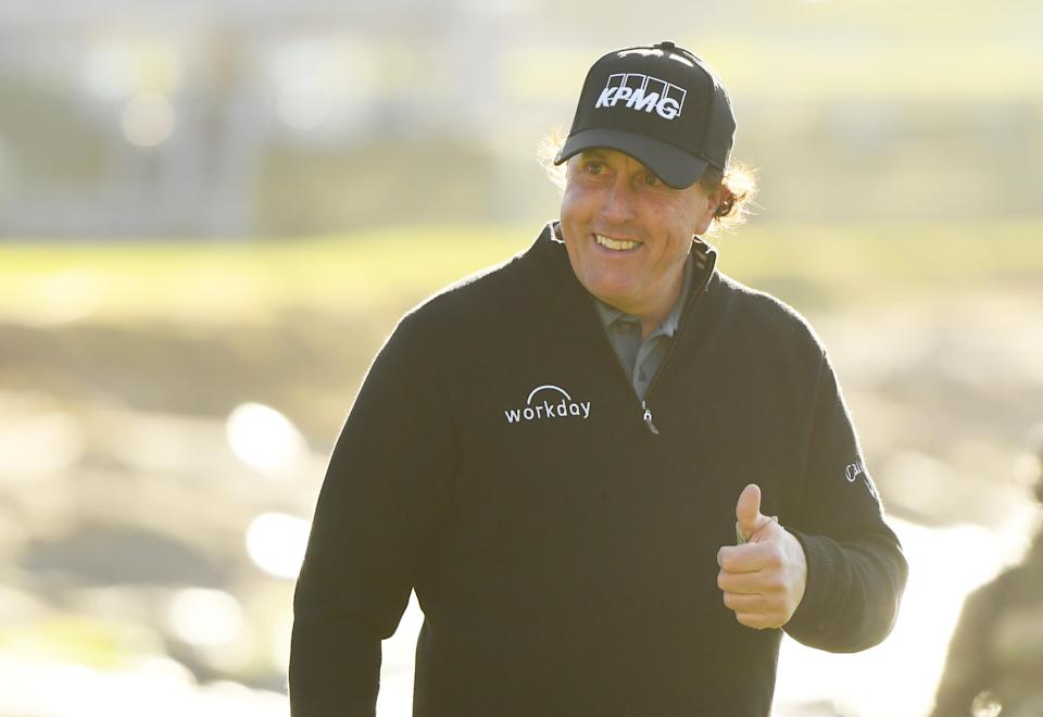 Phil Mickelson's win over the weekend opened the floodgates to effusive praise from Tiger Woods. (Getty)