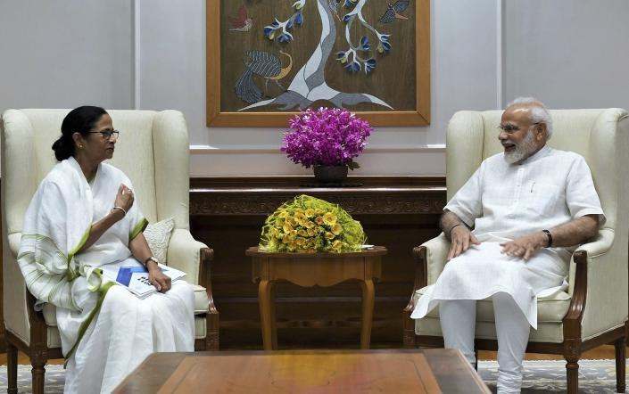 The Chief Minister of West Bengal, Ms. Mamata Banerjee calling on the Prime Minister, Shri Narendra Modi, in New Delhi on September 18, 2019.