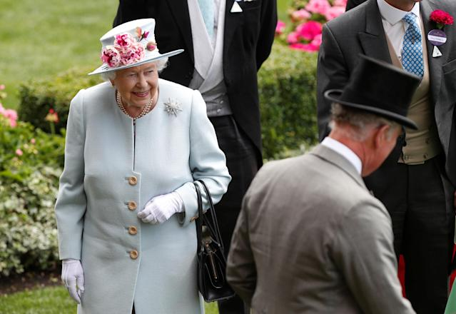 Horse Racing - Royal Ascot - Ascot Racecourse, Ascot, Britain - June 20, 2018 Britain's Queen Elizabeth and Britain's Prince Charles arrives at Ascot Action Images via Reuters/Paul Childs