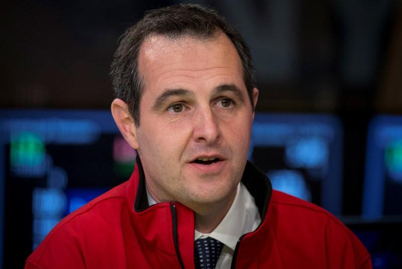 Laplanche, Founder and CEO of Lending Club during an interview with CNBC on the floor of the New York Stock Exchange