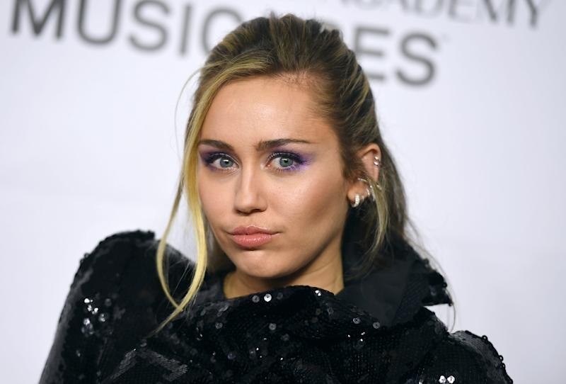 """Miley Cyrus at a MusiCares event in Los Angeles last year. Her new single, """"Midnight Sky,"""" is out now."""