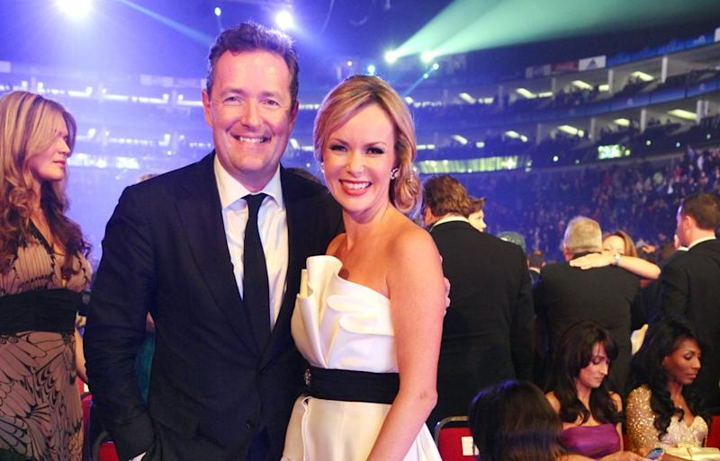 Piers Morgan described Amanda Holden as 'one of the most genuine people' in show business while appearing on Heart FM's Breakfast show on Thursday 27 June (Ian West/Getty)