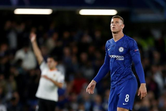 Ross Barkley missed a late penalty as Chelsea went down 1-0 at home to Valencia (AFP Photo/Ian KINGTON)