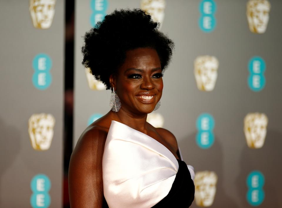 Viola Davis arrives at the British Academy of Film and Television Awards (BAFTA) at the Royal Albert Hall in London, Britain, February 10, 2019. REUTERS/Henry Nicholls