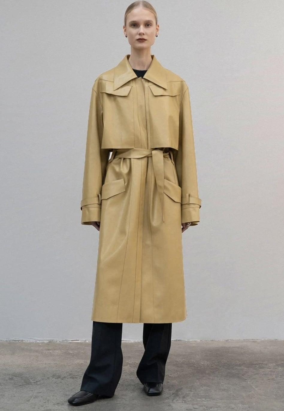 <p><span>Frankie Shop Low Classic Eco Leather Trench Coat</span> ($855) </p>