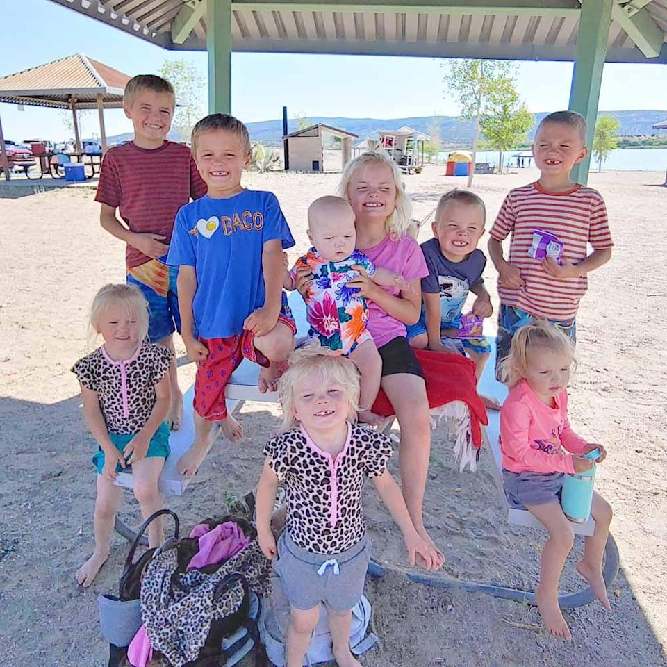 Courtney Rogers and husband Chris live in New Mexico with their 11 children. PA REAL LIFE