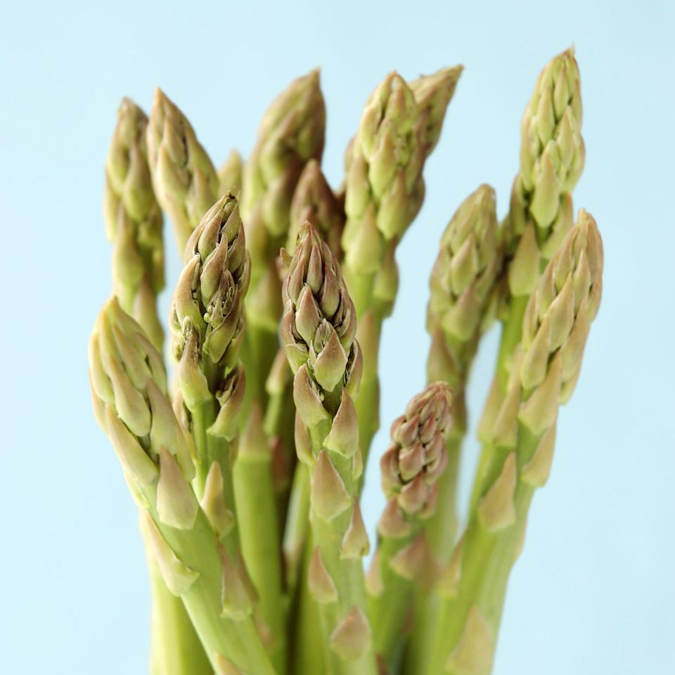 """<p>Asparagus is one of those vegetables that's easy to forget about, but with nearly 3 grams of protein per cup, it should be part of everyone's diet. And at only 27 calories per cup, that's pretty much a <em>steal</em><span>. Add it to everything - from pizzas to sushi - or just eat it on its own. There are plenty of ways you can cook it up, but <a rel=""""nofollow"""" href=""""http://www.redbookmag.com/food-recipes/g4271/roasted-asparagus-recipes/"""">roasting might be the most delicious</a>.</span></p>"""