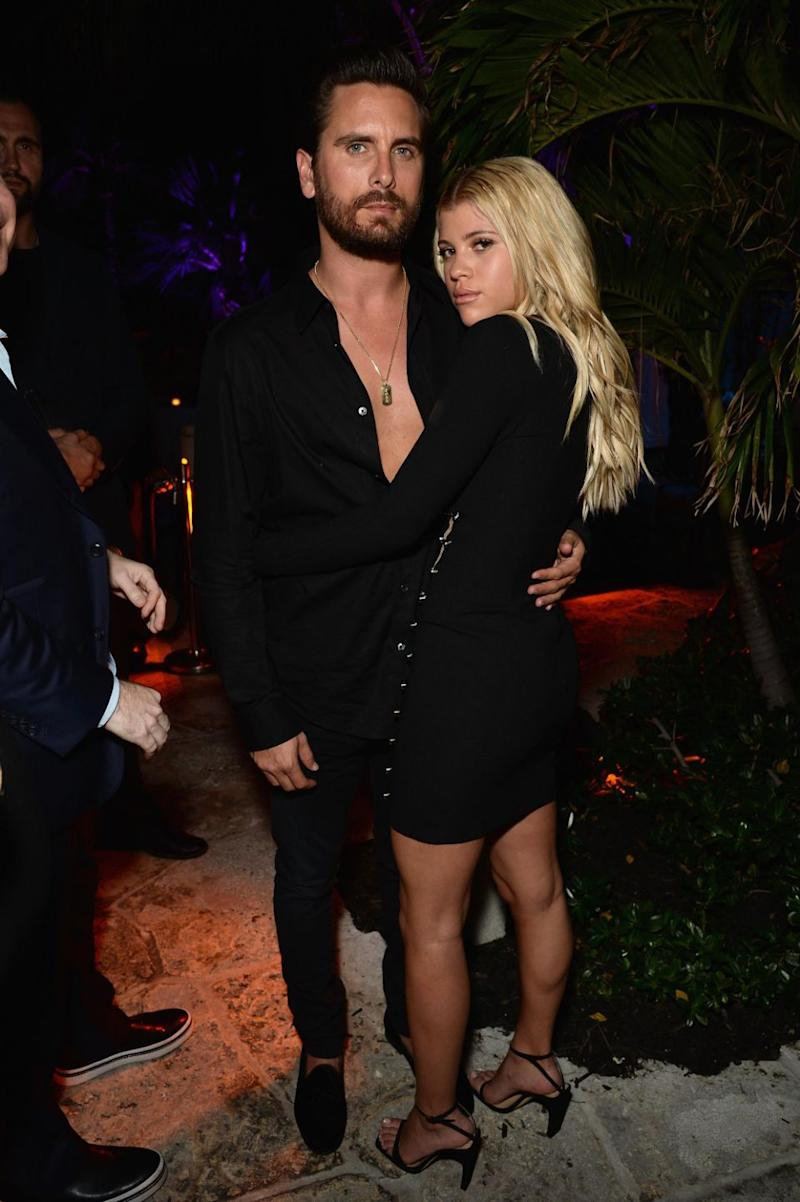 Scott Disick and Sofia Richie attend DuJour's Jason Binn And WellNEST Celebrate Miami Beach's Art Basel Kick-Off at The Confidante on December 6, 2017 in Miami Beach, Florida. Source: Getty