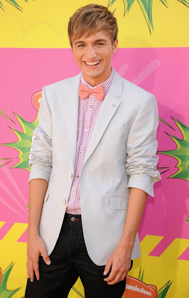 LOS ANGELES, CA - MARCH 23:  Actor Lucas Cruikshank arrives at Nickelodeon's 26th Annual Kids' Choice Awards at USC Galen Center on March 23, 2013 in Los Angeles, California.  (Photo by Kevin Mazur/WireImage)