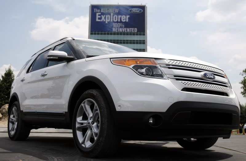 Ford Motor Co unveils the new 2011 Ford Explorer outside the Ford Motor World Headquarters in Dearborn