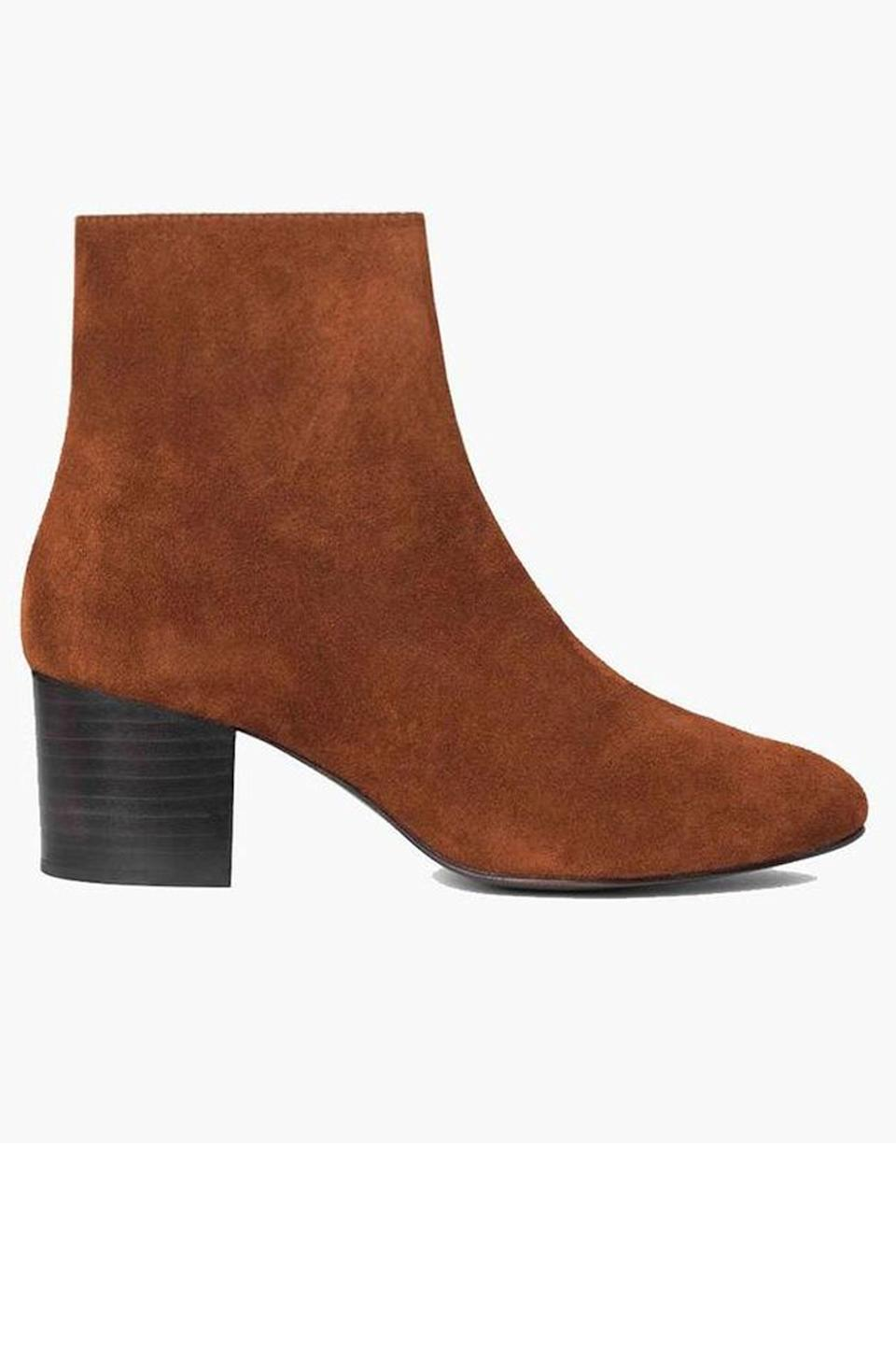 "<p>thursdayboots.com</p><p><strong>$180.00</strong></p><p><a href=""https://thursdayboots.com/products/womens-paloma-boot-spice-suede?collection=womens-boots-booties"" rel=""nofollow noopener"" target=""_blank"" data-ylk=""slk:Shop Now"" class=""link rapid-noclick-resp"">Shop Now</a></p><p>These fan-favorite suede boots are luxe enough for the office, and comfy enough for running weekend errands. </p>"