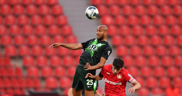 John Brooks has been a dominant defensive presence for Wolfsburg since the Bundesliga returned last month. (Photo by MARIUS BECKER/POOL/AFP via Getty Images)
