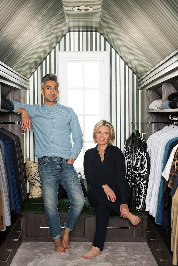 """<div class=""""caption""""> While he designed the rest of his home, France hired Jessica Bennett of Alice Lane Home to design his closet. </div> <cite class=""""credit"""">Photo: Lucy Call</cite>"""