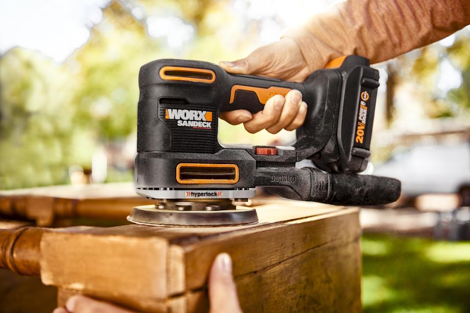 WORX 5-in-1 sander from Canadian Tire for DIY projects