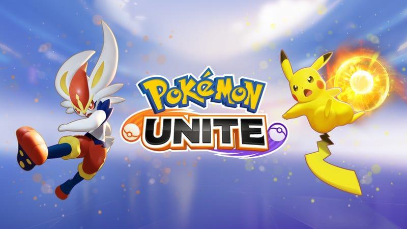 A bit of art for Pokemon Unite showing off Pikachu and Cinderace.