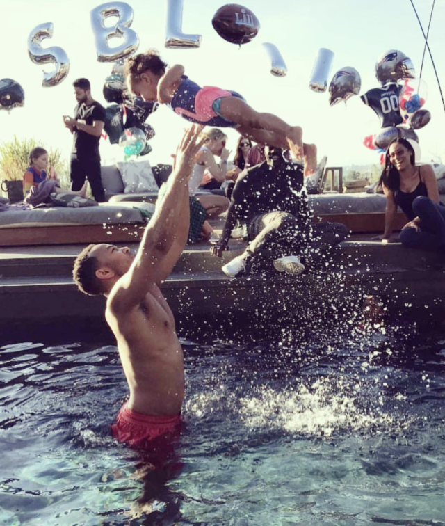 "<p>The ""All of Me"" singer sent his daughter Luna soaring through the air at a pool party on Super Bowl Sunday. Looks like it was memorable day not only for the Philadelphia Eagles and their fans, but also for this epic daddy-daughter team. (Photo: <a href=""https://www.instagram.com/p/Be0oE12D11V/?taken-by=johnlegend"" rel=""nofollow noopener"" target=""_blank"" data-ylk=""slk:John Legend via Instagram"" class=""link rapid-noclick-resp"">John Legend via Instagram</a>)<br><br></p>"