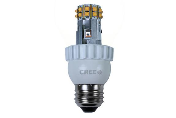 This LED bulb from Cree needs only 9.5 watts to produce the same amount of light as an old 60-watt bulb.