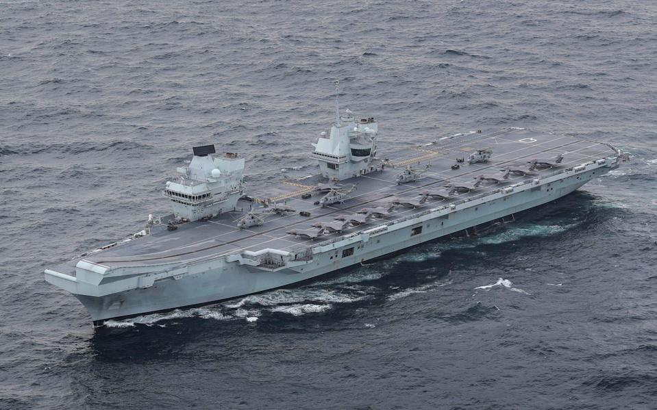 The £3billion HMS Queen Elizabeth, which will sail through the South China Sea - Royal Navy