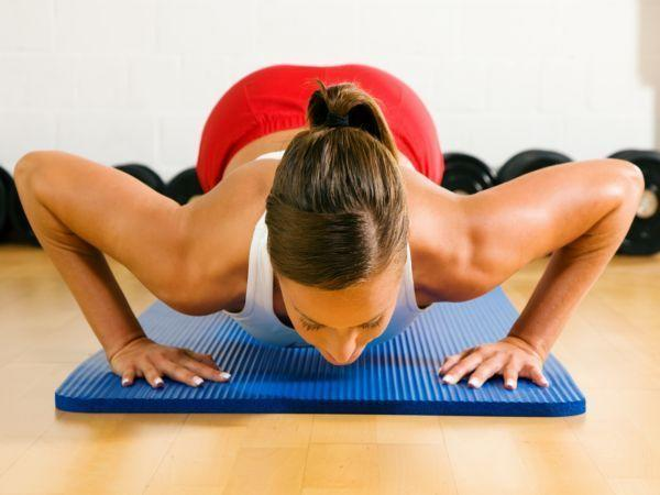 <p>Also try push-ups, sit-ups, chin-ups, pull-ups and chair dips. These will tone your arms, shoulders and ab muscles.</p>