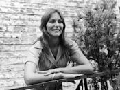 <p>Actress Linda Lovelace on a visit to Rome, Italy. <br></p><p>Other celebrity visitors this year: Diana Ross, actor Anthony Perkins, actress Carroll Baker.</p>