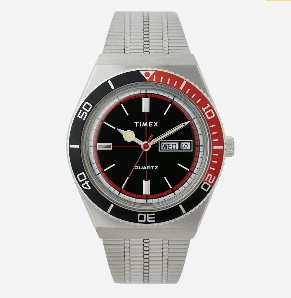 """<p><strong>Huckberry x Timex </strong></p><p>huckberry.com</p><p><strong>$189.00</strong></p><p><a href=""""https://go.redirectingat.com?id=74968X1596630&url=https%3A%2F%2Fhuckberry.com%2Fstore%2Ftimex%2Fcategory%2Fp%2F64537-huckberry-x-timex-cola-sport-watch-limited-edition&sref=https%3A%2F%2Fwww.esquire.com%2Flifestyle%2Fg22141607%2Fbest-gifts-for-boyfriend-ideas%2F"""" rel=""""nofollow noopener"""" target=""""_blank"""" data-ylk=""""slk:Buy"""" class=""""link rapid-noclick-resp"""">Buy</a></p><p>This is a truly excellent watch. Drawing on Timex designs from the '70s and '80s, it makes a handsome accessory for any boyfriend with elevated style.</p>"""