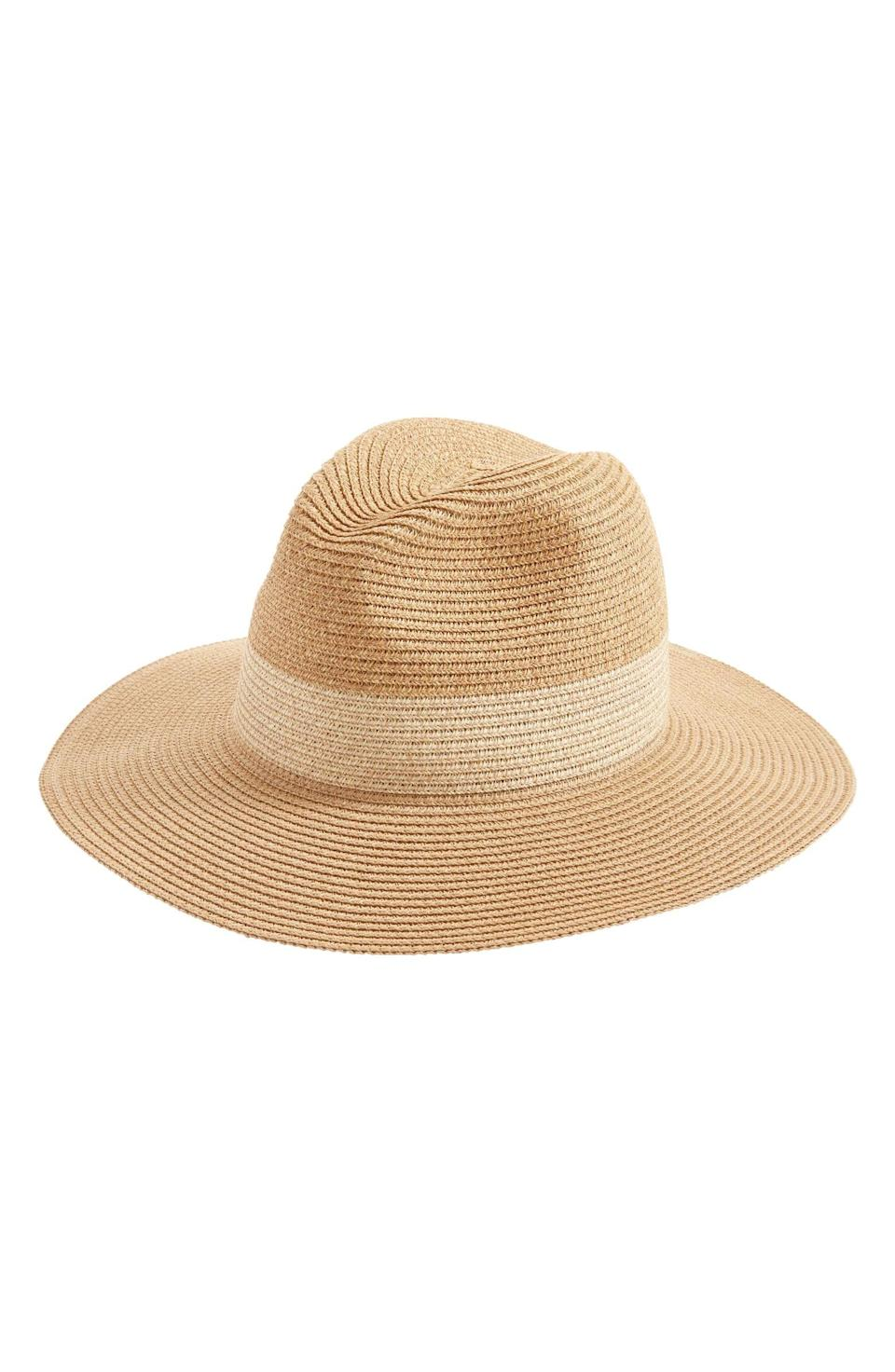 <p>Protect your face from the sun while looking chic in this <span>Halogen Packable Panama Hat</span> ($29).</p>