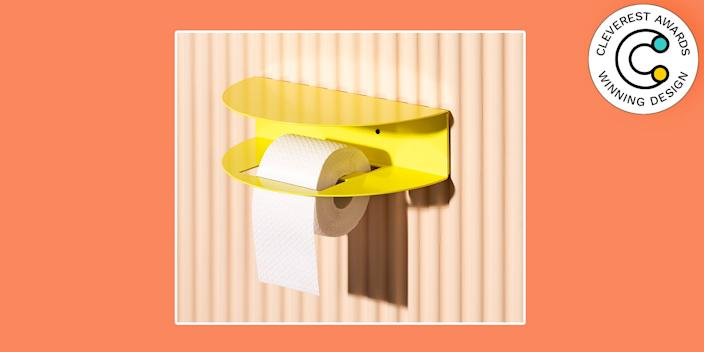 Toilet Paper Holder by Emiel Remmelts & Noortje de Keijzer Bathrooms often have limited options for fun decor details. Designers Emiel Remmelts and Noortje de Keijzer sought to give us a much-needed punch of joy, color, and functionality with none other than a toilet paper holder design. The powder-coated steel creation also happens to be just the right size for a candle, a set of matches, or tiny vase of flowers—because why not cheer up this little part of your home? From $95, noortjedekeijzer.com
