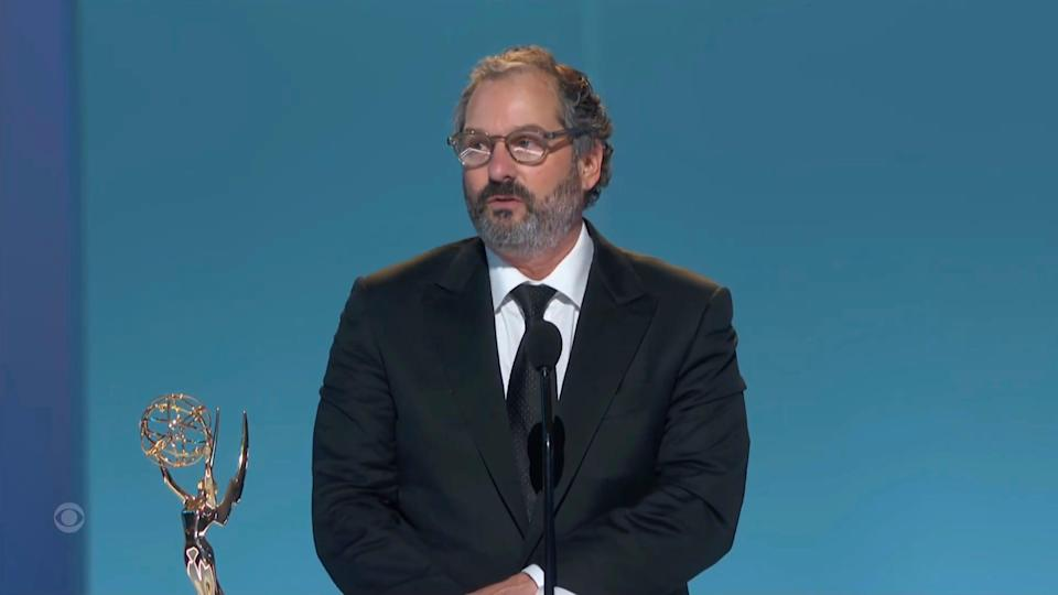 """Scott Frank accepts the award for outstanding directing for a limited or anthology series or movie for """"The Queen's Gambit."""""""