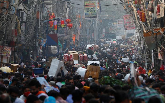 India's densely-populated capital of New Delhi saw a record number of Covid-19 deaths yesterday - Adnan Abidi/Reuters