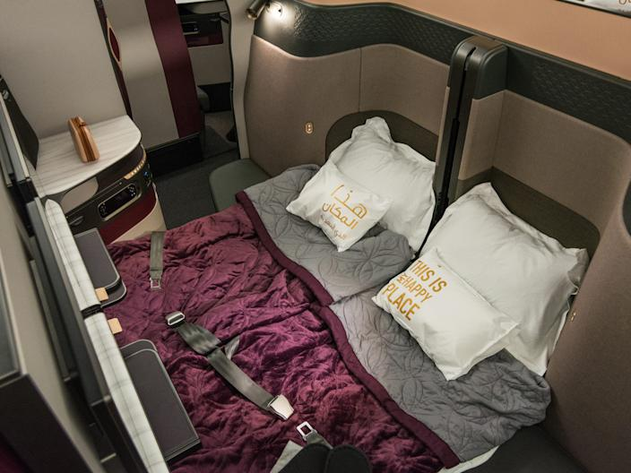 Qatar Airways QSuite business class double bed