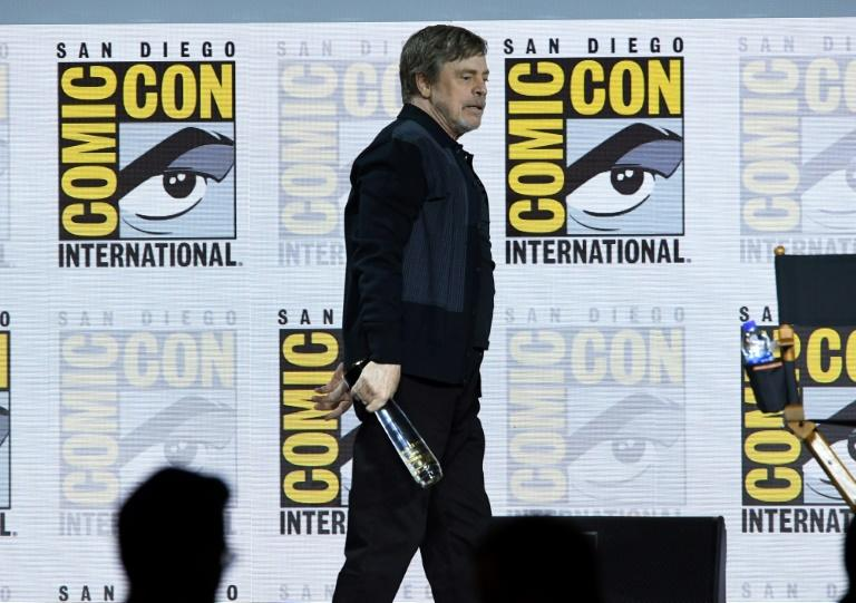 "Fan favorite Mark Hamill was presented with Comic-Con's ""Icon Award"" (AFP Photo/KEVIN WINTER)"