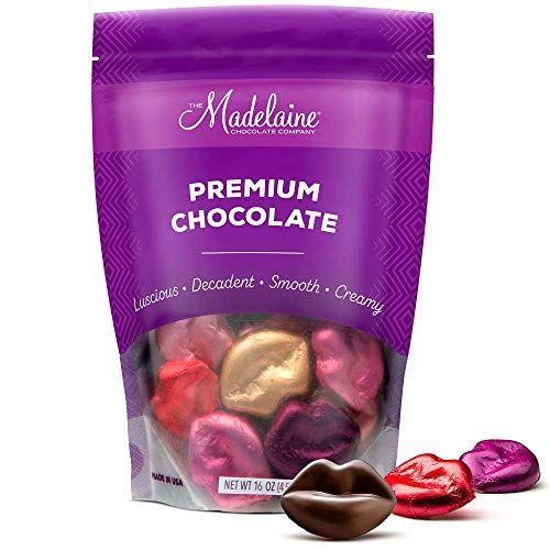 "<p><strong>THE MADELAINE CHOCOLATE COMPANY</strong></p><p>amazon.com</p><p><strong>$14.99</strong></p><p><a href=""https://www.amazon.com/dp/B077NHBC3D?tag=syn-yahoo-20&ascsubtag=%5Bartid%7C10050.g.35180060%5Bsrc%7Cyahoo-us"" rel=""nofollow noopener"" target=""_blank"" data-ylk=""slk:Shop Now"" class=""link rapid-noclick-resp"">Shop Now</a></p><p>Your Valentine will pucker up for these fun lip-shaped chocolates.</p>"