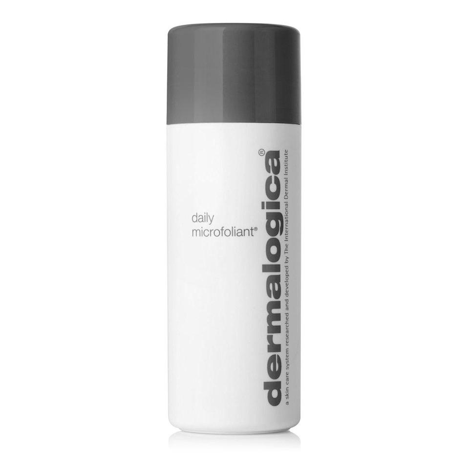 """Dermalogica's Daily Microfoliant is a classic, <a href=""""https://www.allure.com/review/dermalogica-microfoliant?mbid=synd_yahoo_rss"""" rel=""""nofollow noopener"""" target=""""_blank"""" data-ylk=""""slk:award-winning exfoliator"""" class=""""link rapid-noclick-resp"""">award-winning exfoliator</a> that's been around for years, so you can only imagine how many bottles of it have seen the inside of a blue recycling bin. Launched in late 2020, however, the <a href=""""https://shop-links.co/1736448665429549645"""" rel=""""nofollow noopener"""" target=""""_blank"""" data-ylk=""""slk:refill pouches"""" class=""""link rapid-noclick-resp"""">refill pouches</a> are making this gentle, must-have scrub — made even more effective with enzymes and salicylic acid — much more environmentally friendly."""
