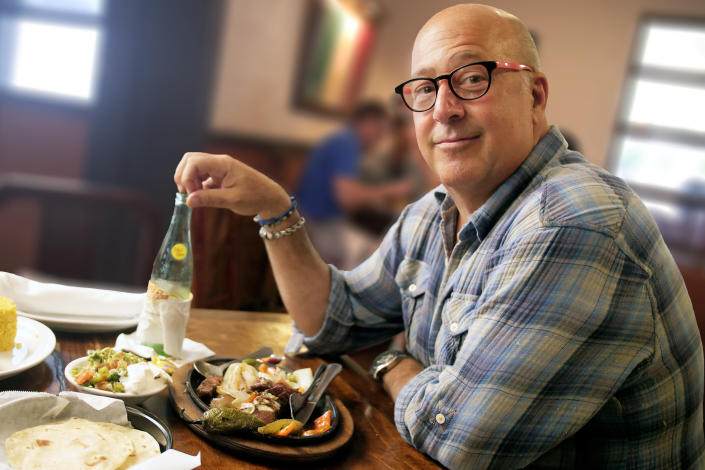 This year, Zimmern tells Yahoo Life his Thanksgiving will be a much smaller affair due to the pandemic. (Photo: Travel Channel)