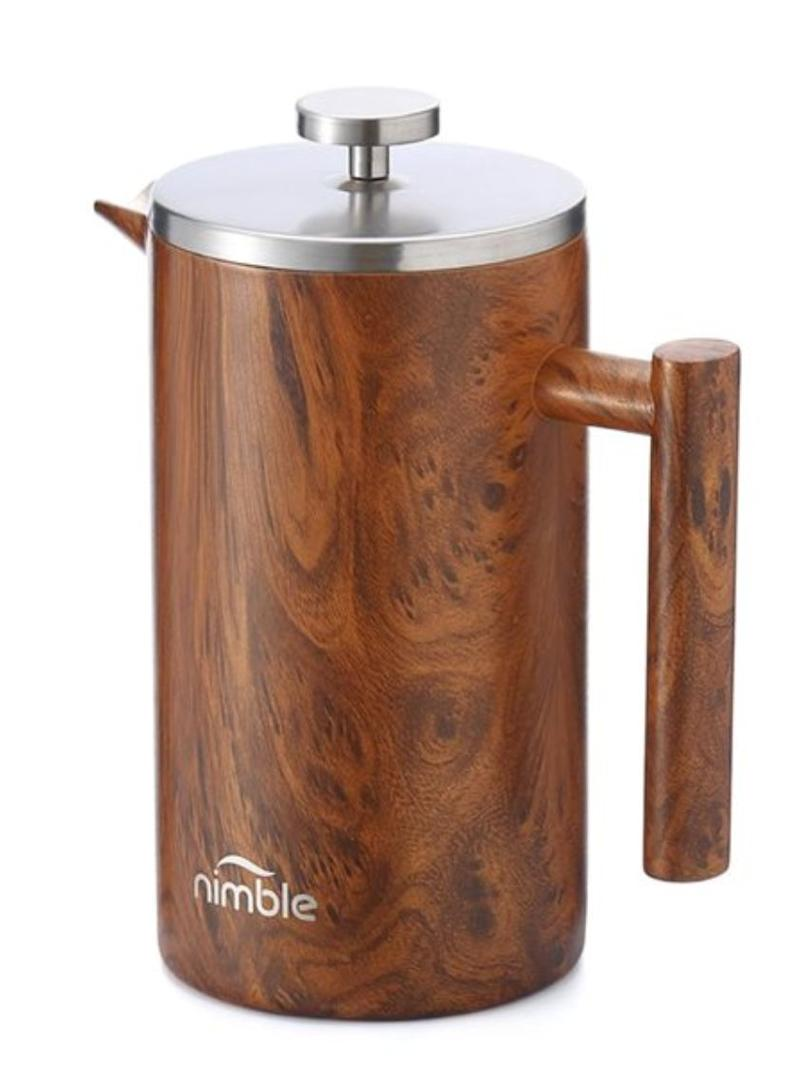 """Coffee, but make it fancy. Get this sleek French press at <a href=""""https://www.chapters.indigo.ca/en-ca/house-and-home/nimble-double-walled-french-press/794604215396-item.html"""" target=""""_blank"""" rel=""""noopener noreferrer"""">Indigo</a>, $41.24."""