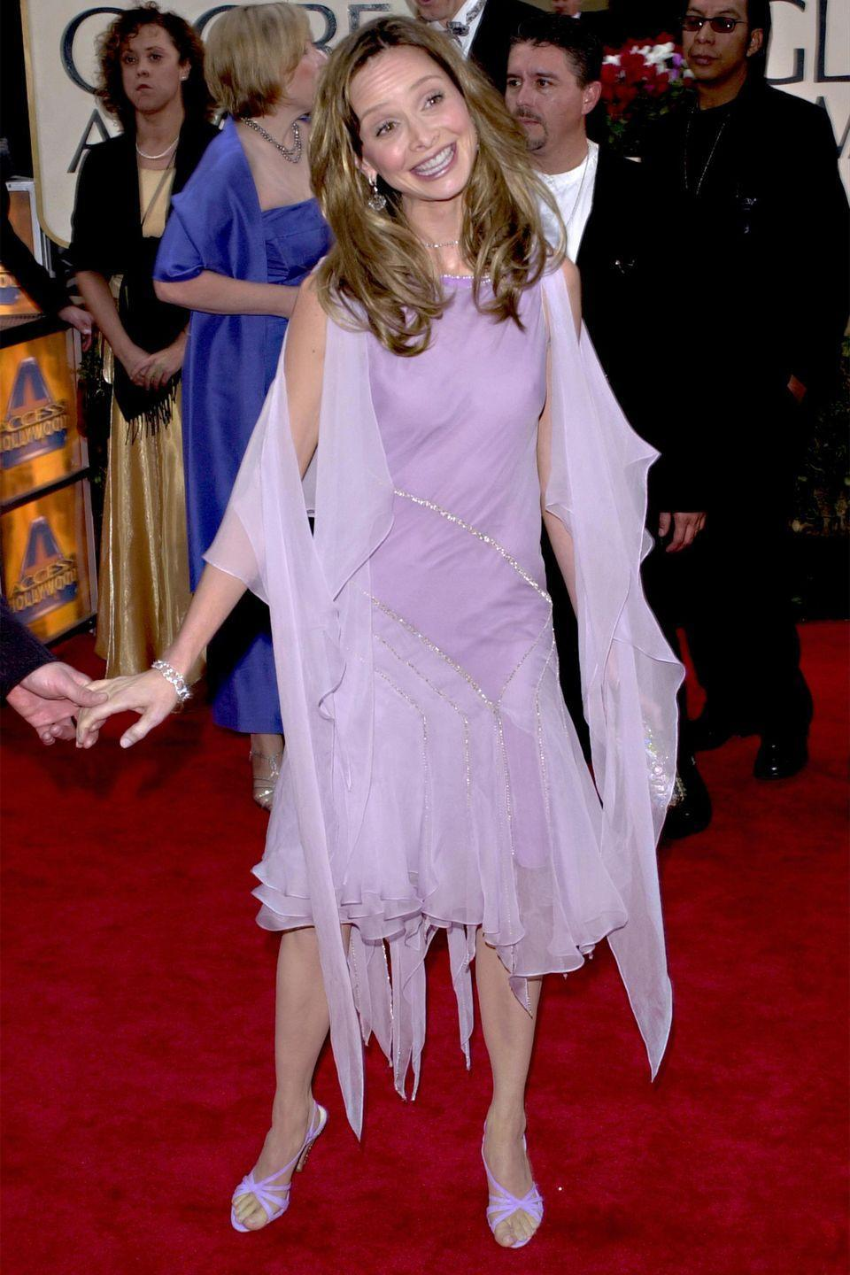 <p>The <em>Ally McBeal </em>actress channeled a red carpet fairy in 2001.</p>