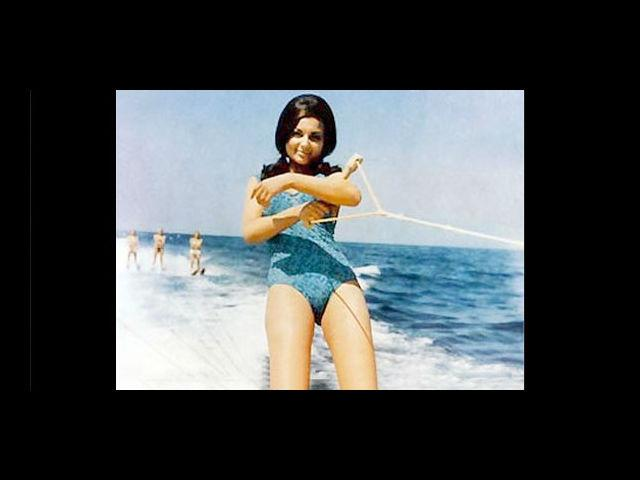 The dimpled beauty Sharmila Tagore was probably the first Indian actress to don a bikini in mainstream cinema. The bikini-clad Sharmila in 'An Evening in Paris' shocked audiences throughout the nation.