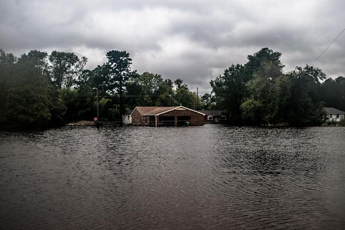 Lumberton saw rising floodwaters throughout Sunday as the Lumber River rose over its banks and inundated the south side of town.