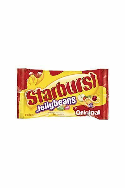 """<p><strong>Starburst</strong></p><p>amazon.com</p><p><a href=""""https://www.amazon.com/dp/B01782I8AG?tag=syn-yahoo-20&ascsubtag=%5Bartid%7C10070.g.2201%5Bsrc%7Cyahoo-us"""" rel=""""nofollow noopener"""" target=""""_blank"""" data-ylk=""""slk:Shop Now"""" class=""""link rapid-noclick-resp"""">Shop Now</a></p><p>Everything you love about Starburst chews but in the form of a jelly bean.</p>"""