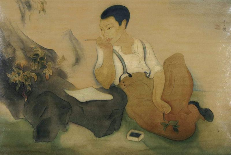 Tyrus Wong's self-portrait, late 1920s.