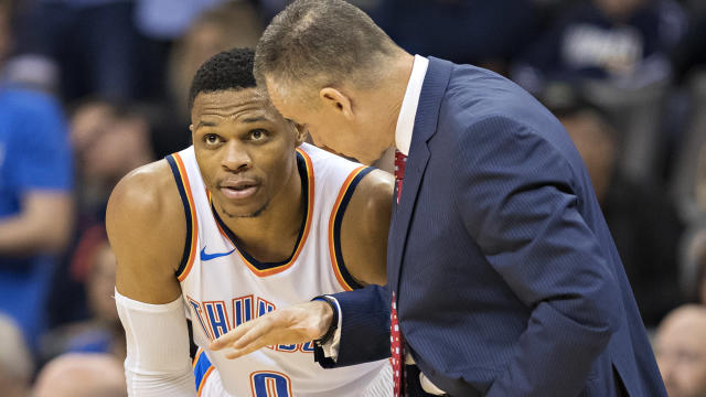 "<a class=""link rapid-noclick-resp"" href=""/nba/players/4390/"" data-ylk=""slk:Russell Westbrook"">Russell Westbrook</a> isn't overly concerned about the Thunder's 4-6 start."