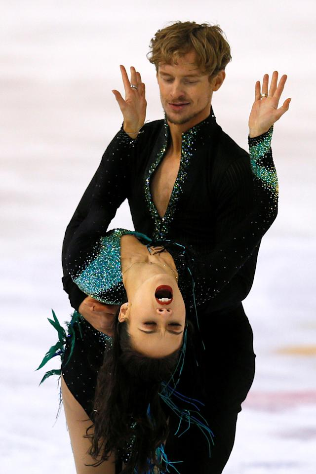 Figure Ice Skating - ISU Grand Prix of Figure Skating Internationaux de France - Pole Sud Ice Rink, Grenoble, France - November 17, 2017   Madison Chock and Evan Bates of the USA perform during the Ice Dance Short Dance   REUTERS/Robert Pratta     TPX IMAGES OF THE DAY