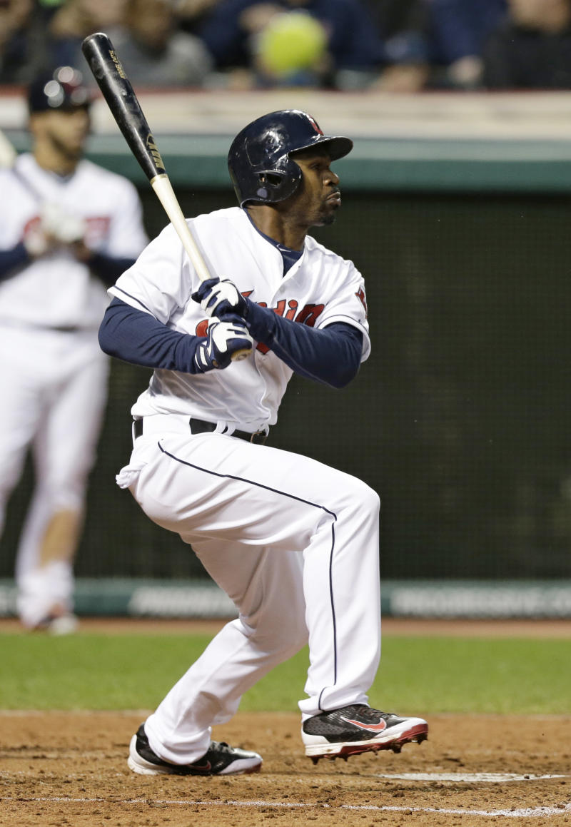 Michael Bourn out of lineup; Indians recall Morgan