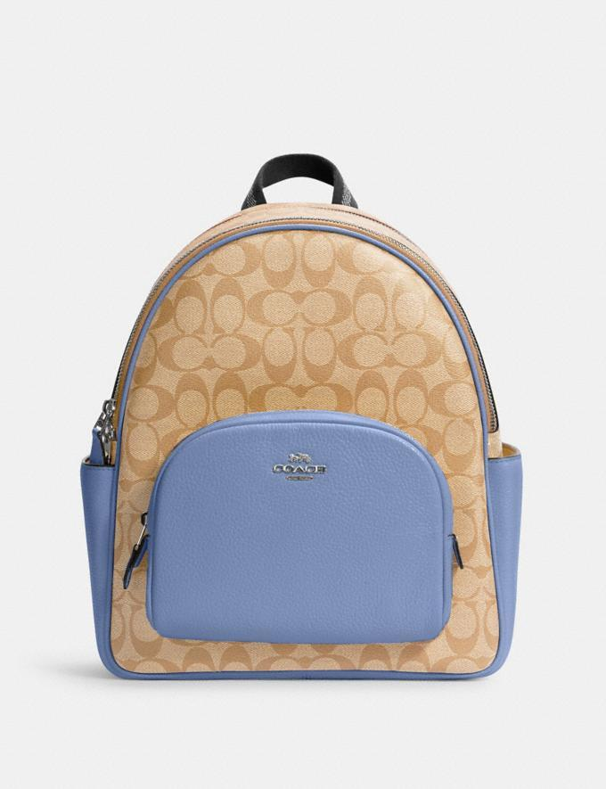 Court Backpack In Signature Canvas - Coach Outlet.