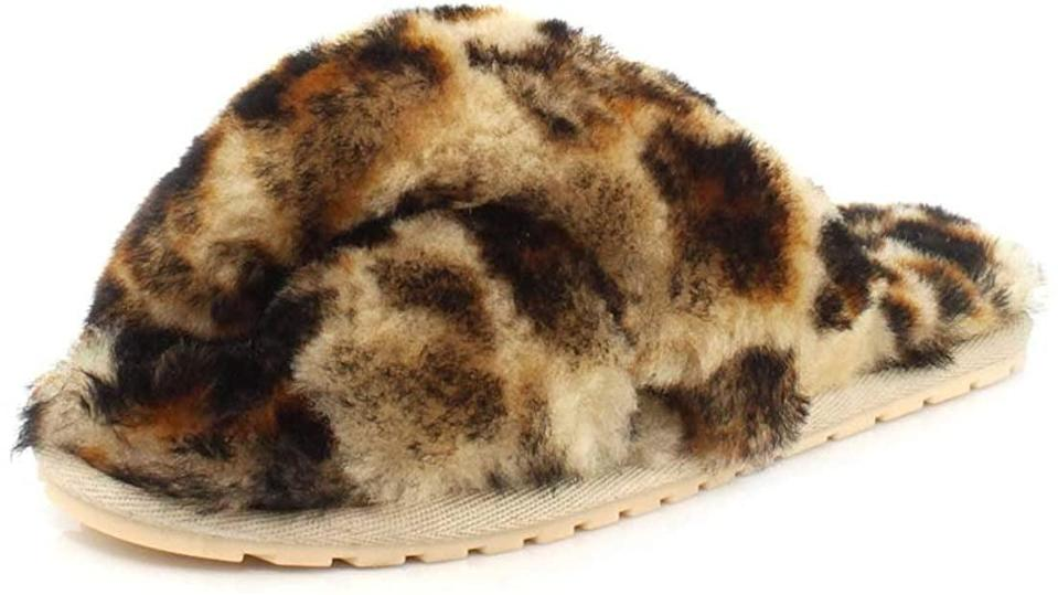 <p>These <span>EMU Australia Mayberry Animal Sheepskin Slippers</span> ($60) are so fun.</p>