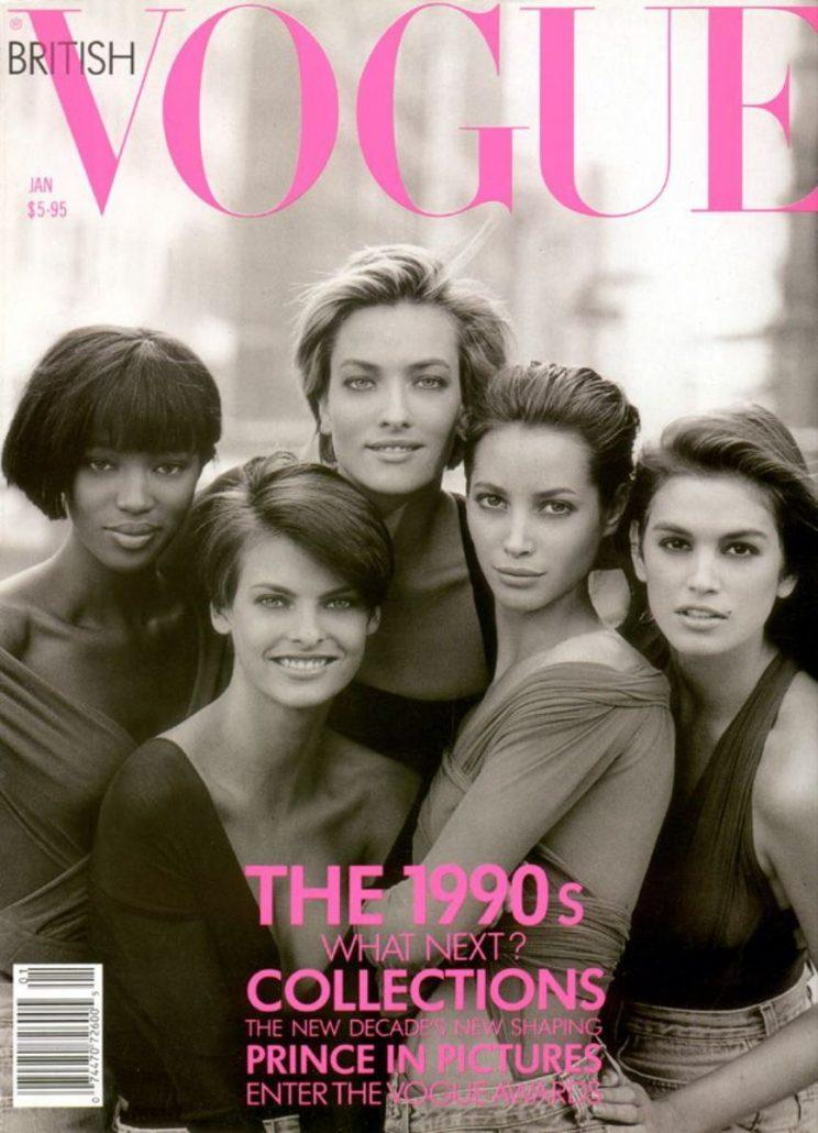 The January 1990 Cover of British Vogue