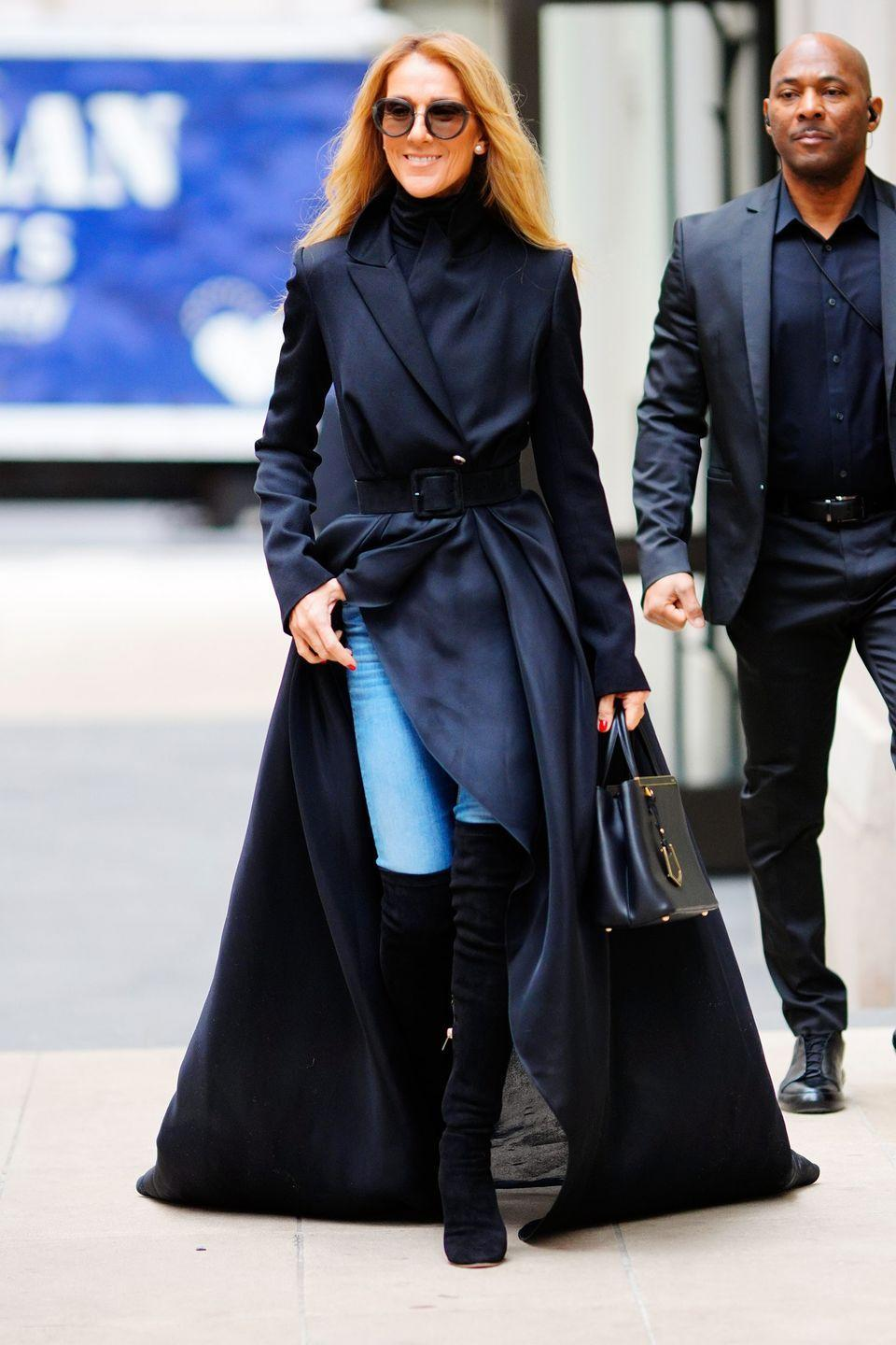<p>Celine stepped out in a gown coat by Brandon Maxwell in New York City and now we want a gown coat. </p>