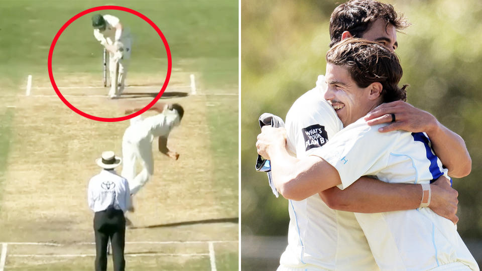 Mitchell Starc, pictured here taking the final wicket for NSW.